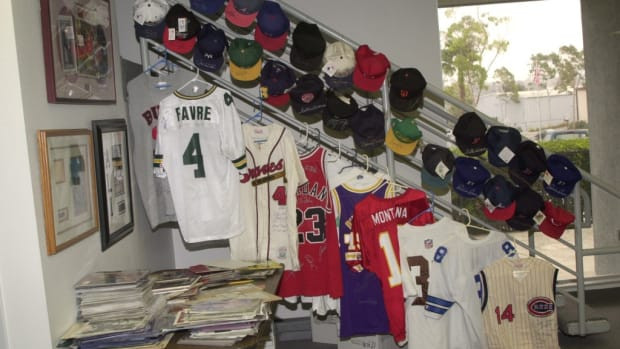 The FBI confiscated these fraudulently signed caps and jerseys in the 1999 Operation Bullpen bust, but as every collector knows, the problem of forgery has not gone away.