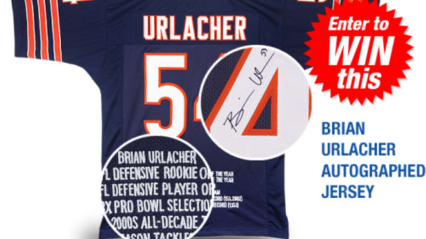 Autographed Brian Urlacher jersey