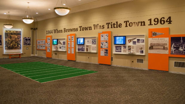 The Cleveland Browns exhibit at the Western Reserve Historical Society runs through February 2015. Photo courtesy of Robert R. Schleimer, Erie Shore Photography.