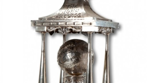 The John Moores Trophy, honoring the World's Amateur Baseball Championship, brought nearly $200,000.