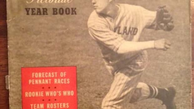 The first baseball yearbook produced by Street & Smith's featured the young fireballer Bob Feller on the cover, running 98 pages and offering preseason previews and predictions, something lacking in most other baseball publications of the time.
