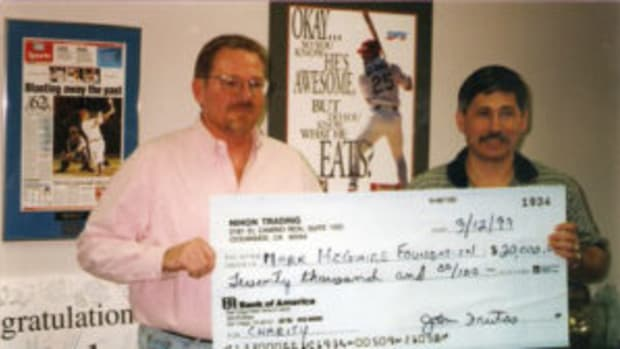 During Operation Bullpen, Ferreira worked with Mark McGwire's charitable foundation to prepare a ruse to catch the forgers and counterfeiters. (Photos courtesy John Ferreira)
