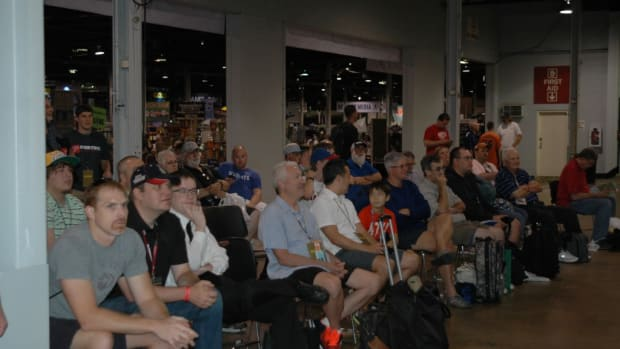 What was once reserved only for the manufacturer booths and the Autograph Pavilion, crowds now watched the happenings at the Case Break Pavilion at this year's National.