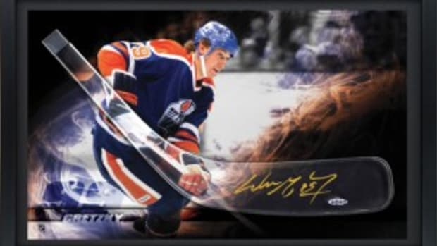 2013-Upper-Deck-Authenticated-Signed-Autographed-Memorabilia-Wayne-Gretzky-Edmonton-Oilers-Acrylic-Hockey-Blade
