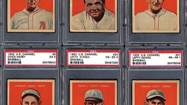 Babe Ruth caps off the 1932-33 U.S. Caramel set, but the other 26 baseball players in the set aren't too shabby either.