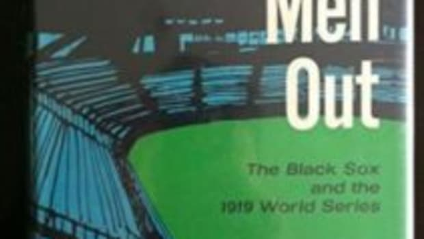 "The cover of the 1963 book ""Eight Men Out."""