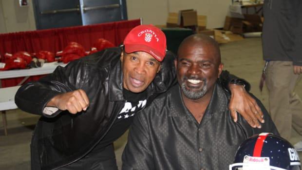 Sugar Ray Leonard and Lawrence Taylor