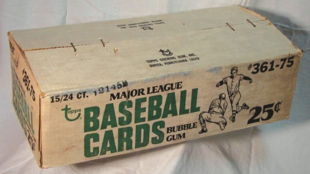 On day one, bidding is past $45,000 for this 1975 Topps cello case.