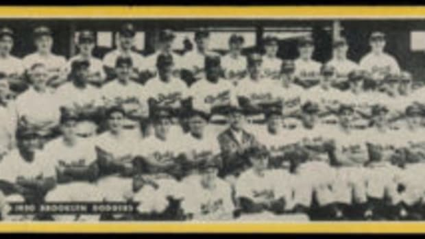 1951 Topps Brooklyn Dodgers dated team card.