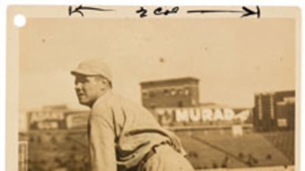 This 1919-20 photo of Babe Ruth as a Boston Red Sox sold for $37,200.