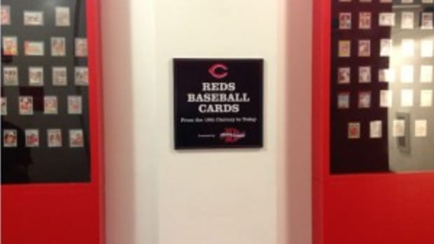 The Dean's Cards display at the Cincinnati Reds HOF.