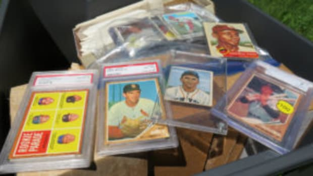 A brother and sister in Wisconsin are weighing their options as to how to market a sports cards collection left to them by their brother who recently passed away. (Bert Lehman photos)