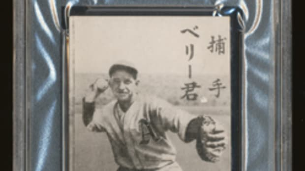 Charlie Berry from the JBR 48 set. The JBR 48 set consists of 20 cards, 10 Americans and 10 Japanese players.