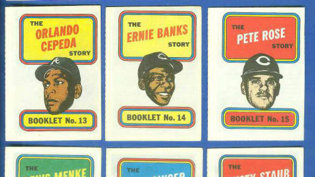 The comic book inserts found in 1970 Topps Baseball packs featured 24 players, with the inside pages talking about how the players got to the big leagues, career highlights and perhaps their off-season jobs.