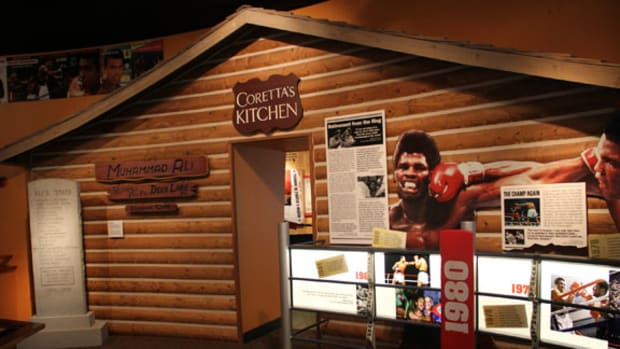 The Muhammad Ali Center in Louisville, Ky., includes many different showcases, including a replica of his Deer Lake training camp. And if you decide to make the trip, don't be surprised if the Champ himself taps you on the shoulder. All photos by Ross Forman.