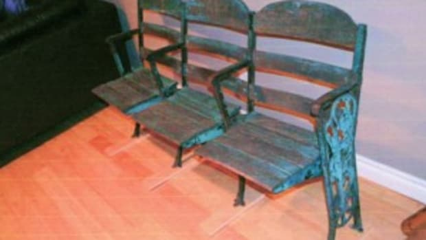 Jordan Carter's League Park seats – by the way of Vaughn Street Park – were found at an antiques store in Portland, Ore.