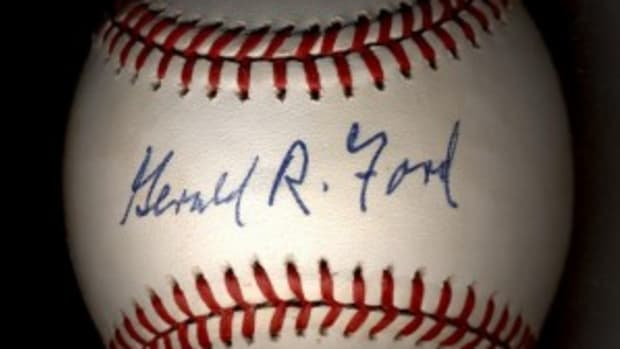 This is how a genuine Gerald Ford signature should look on a baseball.