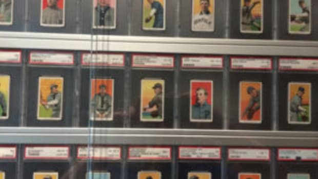 Those who visited the Detroit Institute of Arts over the summer were able to view a T206 display that featured 525 cards owned by Detroit native E. Powell Miller. (Greg Bates photos)