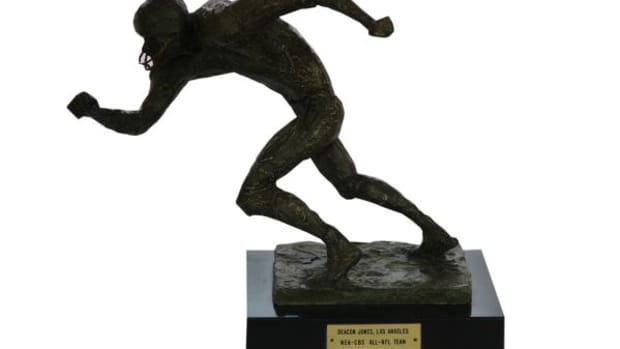 Deacon Jones 1969 and 1969 MVP awards will be through through Steiner Sports