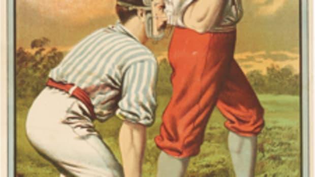 Boston Union Athletic Exhibition Company Grounds . Championship Games, Keystones vs. Boston Unions Buffalo, NY: John B. Sage, [1883]. Chromolithographed poster, 692 x 262 mm (image size). Est $15,000-25,000 . Image courtesy Bonhams.