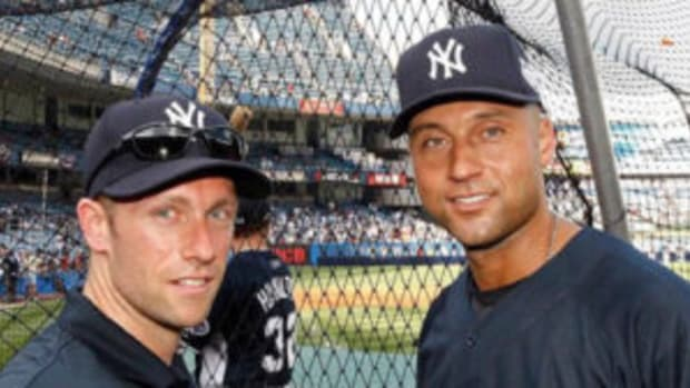 Dana Cavalea (left) and former New York Yankees shortstop Derek Jeter (right). (Photo courtesy by Dana Cavalea)