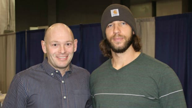 Ross Forman with Madison Bumgarner,