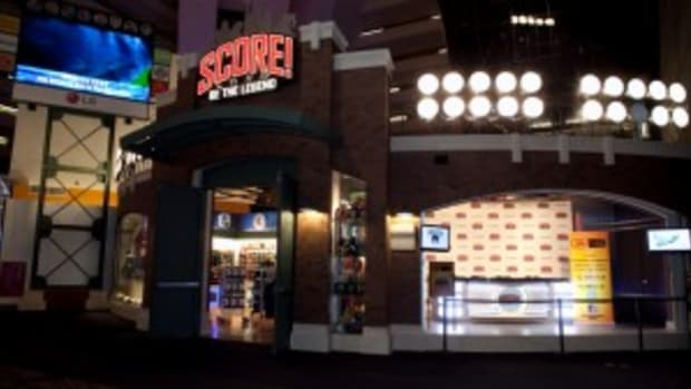 SCORE! has opened in the Luxor Hotel and Casino in Las Vegas.