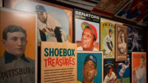 The National Baseball Hall of Fame's Shoebox Treasures exhibit dedicated to the history of baseball cards, opened in 2019. (Photos by Milo Stewart Jr./National Baseball Hall of Fame and Museum)