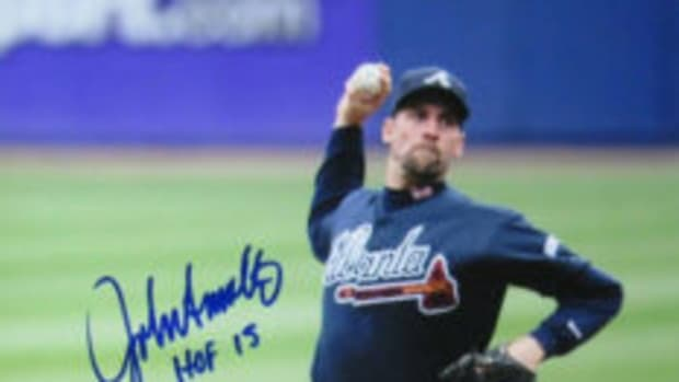 John Smoltz was inducted into the Baseball Hall of Fame in 2015.