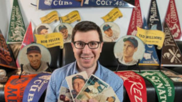 Michael Osacky began collecting vintage baseball cards when he was 17 years old, after his grandpa gave him a shoebox that was filled with baseball cards from the 1950s and '60s. (Photos courtesy Michael Osacky)