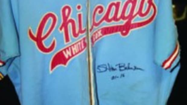 Stan Bahnsen pitched for the White Sox from 1972-75. This jersey was the 1972 style.