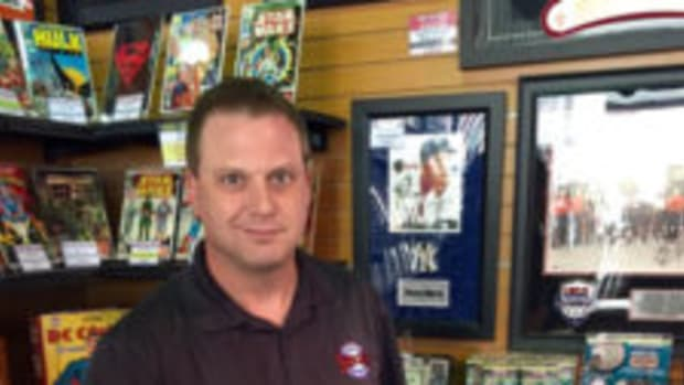 "Jeremy Brown, owner of Ultimate Sports Cards and Memorabilia in Las Vegas, is also a sports memorabilia expert on the TV show ""Pawn Stars."" (Kevin Nelson photos)"