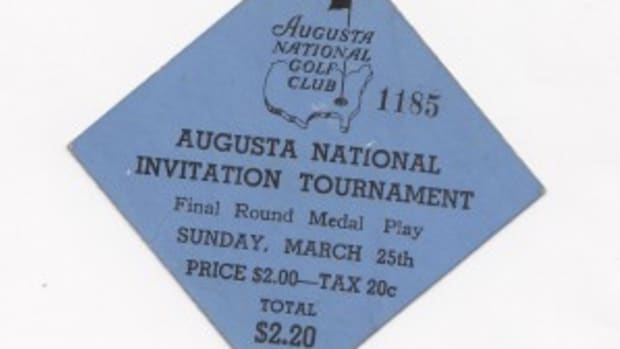 To the uninitiated, this badge is underwhelming. But considering it is one of five known badges from the 1934 Masters, it is expected to bring $40,000-$50,000.