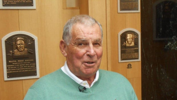In a more serene moment at the Baseball Hall of Fame in Cooperstown this past spring, Cox got an up-close-and-personal tour of the place his plaque will call home for the foreseeable future.