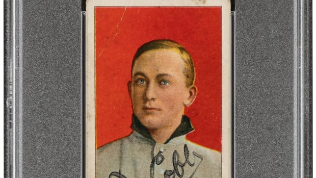 1909-11 T206 Sweet Caporal Ty Cobb Signed Portrait Red Background Good 2 Auto 7_Heritage_Auctions