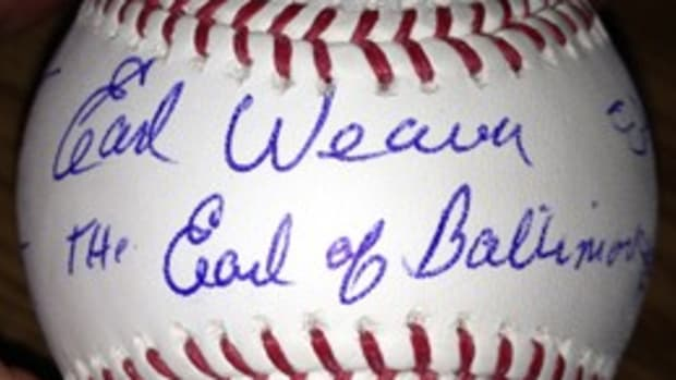 6 Oriole Hall of Famers Signed Baseball with Nicknames from Dick Gordon Sports