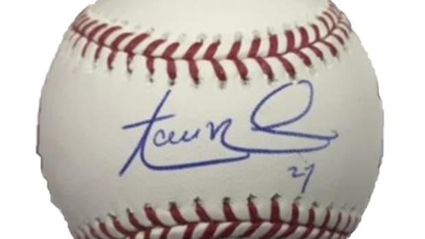Aaron Nola autographed baseball