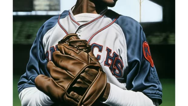 Satchel Paige Giclee from Legends of the Game