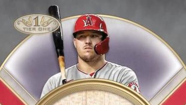 Mike Trout autograph card from Topps Tier One Series.