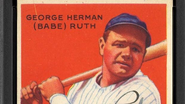 Image 1 - 1933 Goudey 149 Babe Ruth PSA VG-EX 4 Auto 8