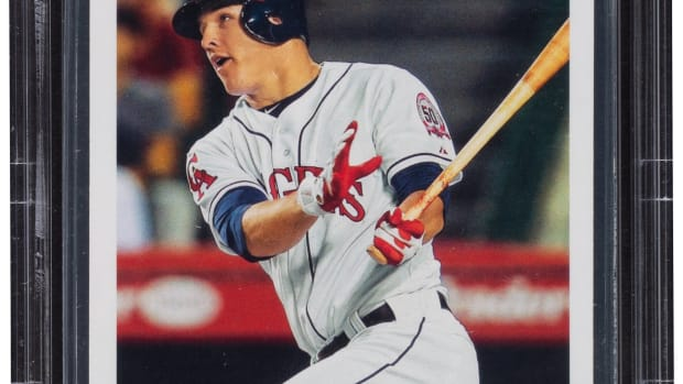 A 2011 Topps Update Mike Trout card.