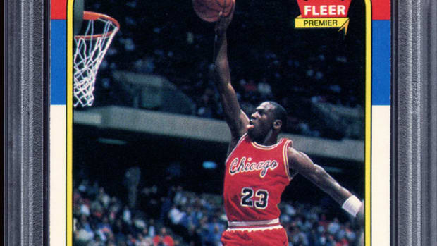 A 1986 Fleer Michael Jordan rookie card sold for more than $400,000.