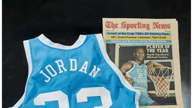 Michael Jordan's game-worn jersey from the 1982-83 national championship game.