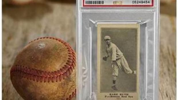 A 1916 Babe Ruth rookie card is one of the lots in the Heritage Spring Sports Auction.