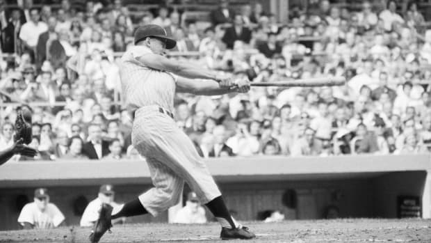Roger Maris belts his record 61st home run against the Boston Red Sox in 1961 to pass Babe Ruth's single-season home run record.