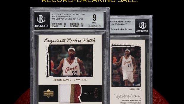 The LeBron James rookie card set the record for the highest selling sports card ever through a sell through PWCC Marketplace.