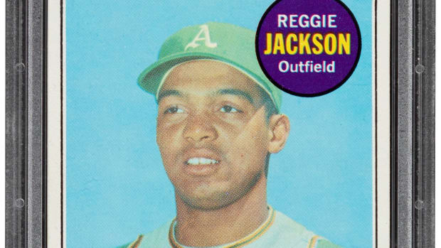 A 1969 Reggie Jackson rookie card, graded Gem MT 10, sold for more than $1 million by Heritage Auctions.
