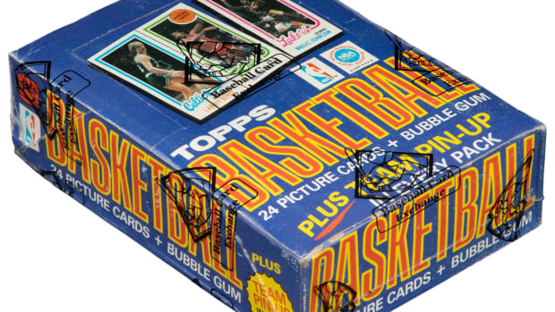 An unopened box of 1980 Topps Basketball cards is up for bid at Heritage Auctions.