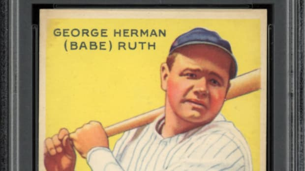A Mint 9 1933 Goudey Babe Ruth card is part of the Thomas Newman Collection.