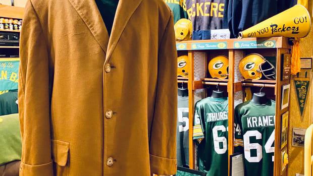 Glen Christensen's Green Bay Packers man cave.